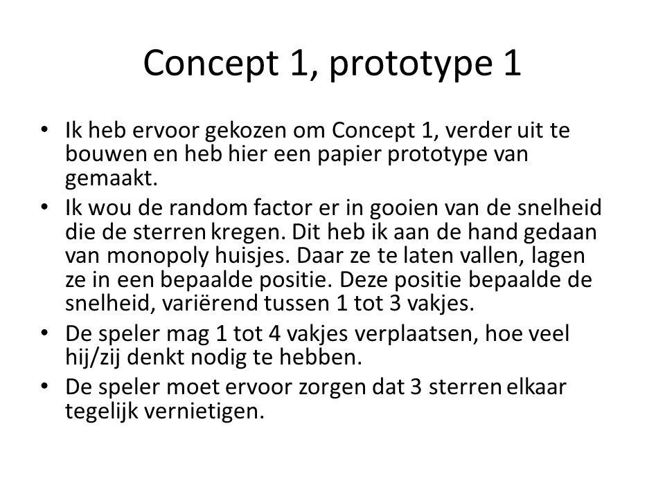 Concept 1, prototype 1 Ik heb ervoor gekozen om Concept 1, verder uit te bouwen en heb hier een papier prototype van gemaakt.