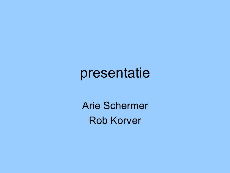 presentatie Arie Schermer Rob Korver
