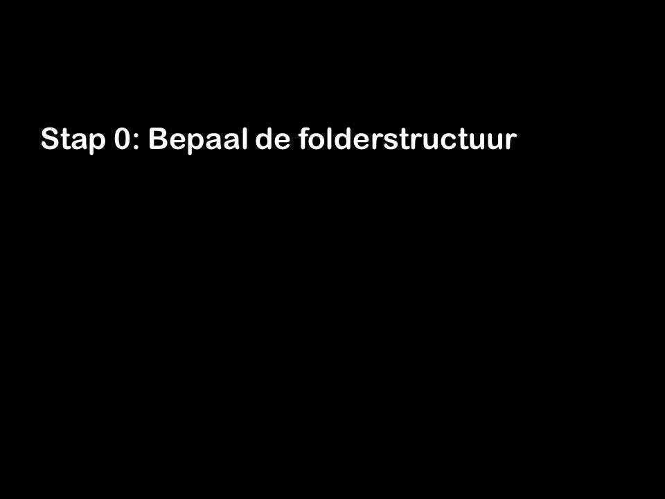 Stap 0: Bepaal de folderstructuur