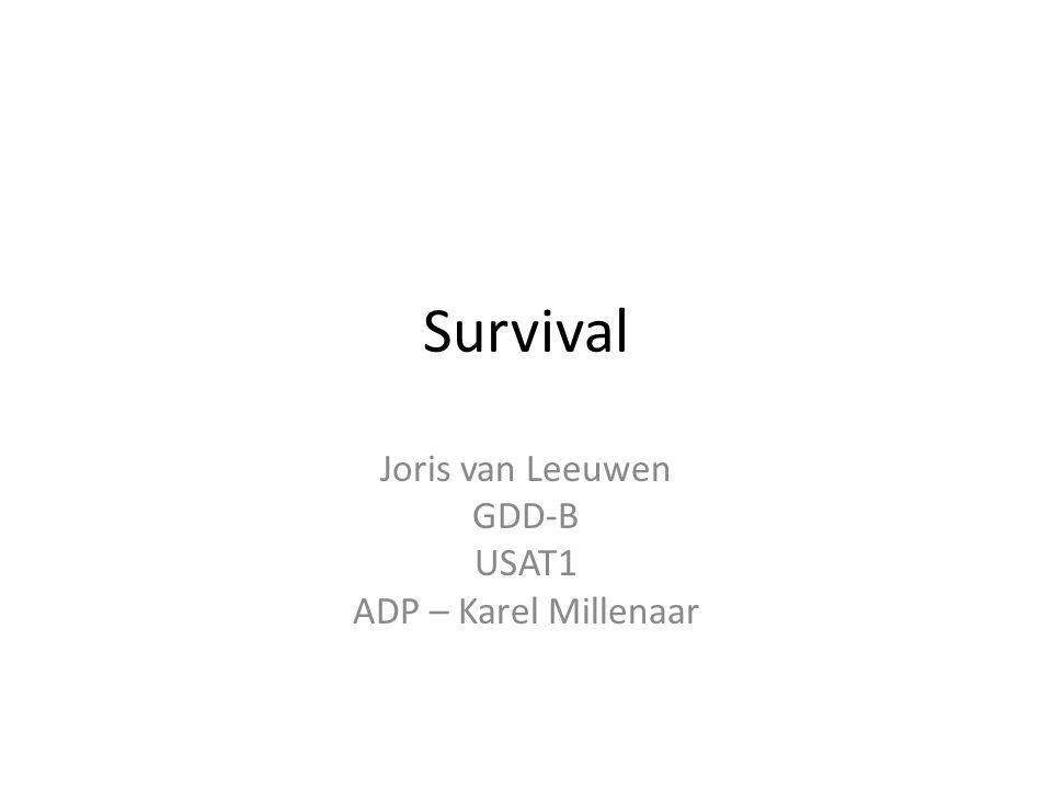 Survival Joris van Leeuwen GDD-B USAT1 ADP – Karel Millenaar