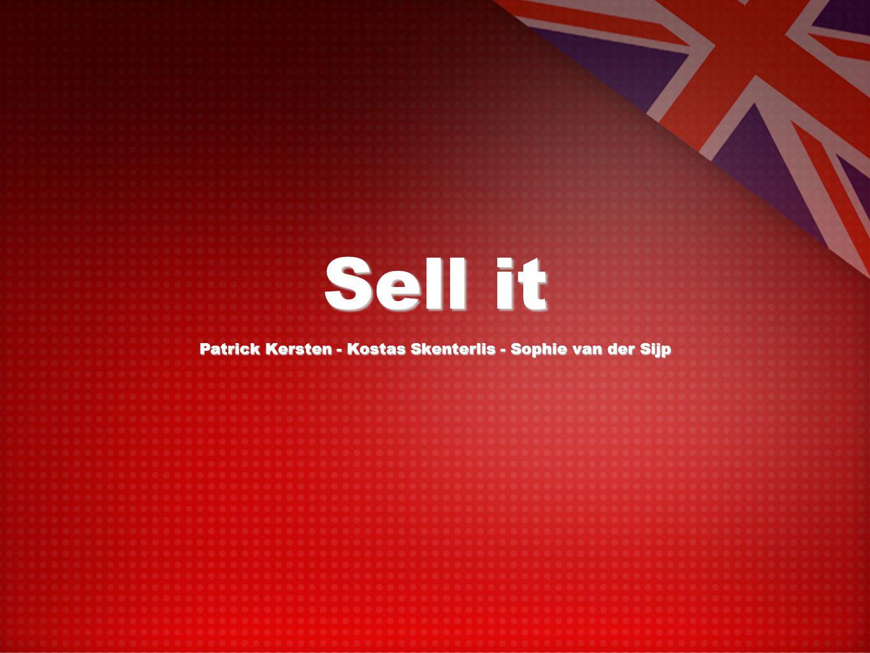 Sell it Patrick Kersten - Kostas Skenterlis - Sophie van der Sijp