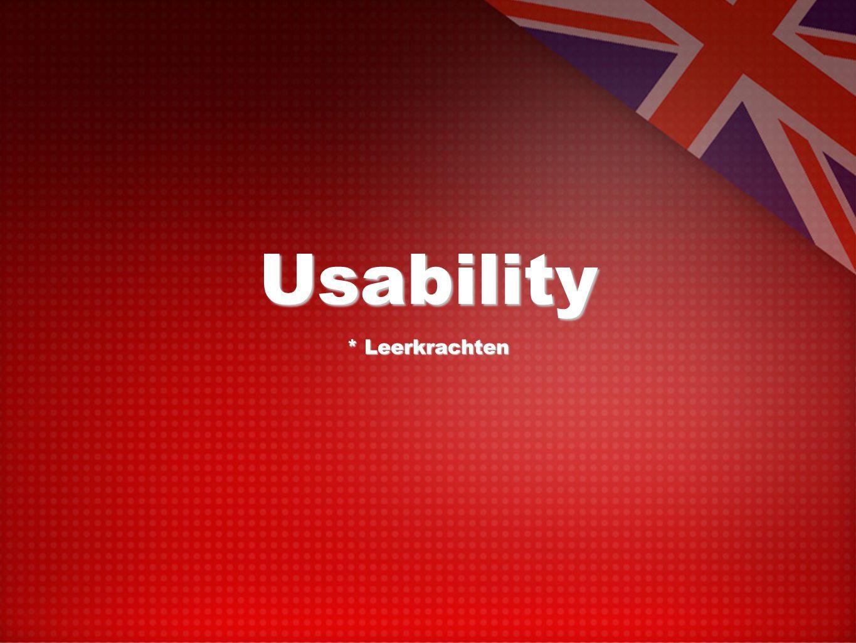 Usability * Leerkrachten