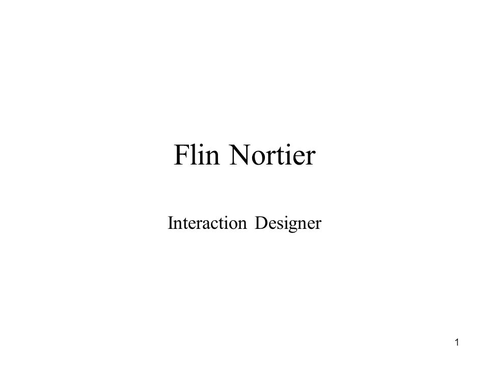 1 Flin Nortier Interaction Designer