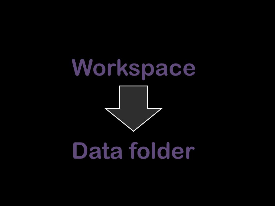 Workspace Data folder