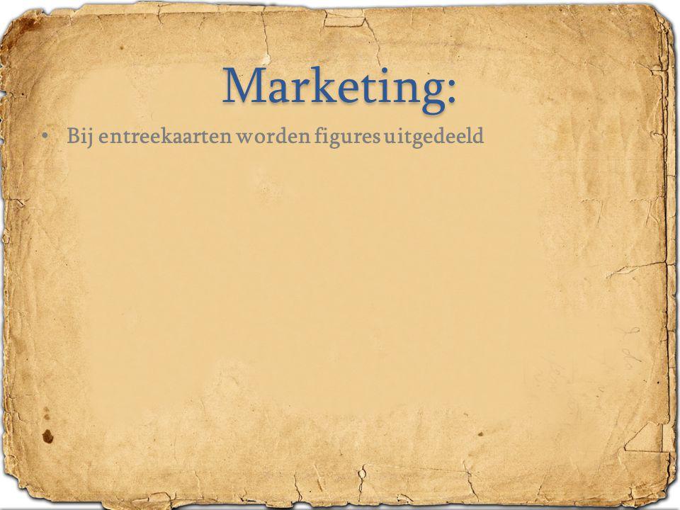 Marketing: Bij entreekaarten worden figures uitgedeeld