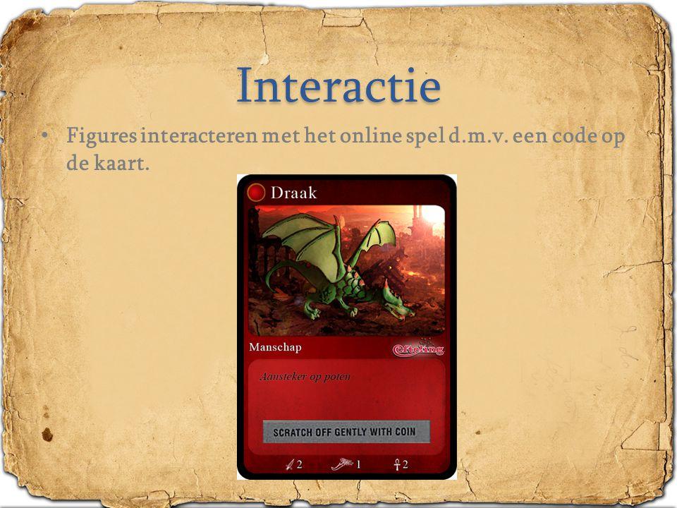 Interactie Figures interacteren met het online spel d.m.v. een code op de kaart.