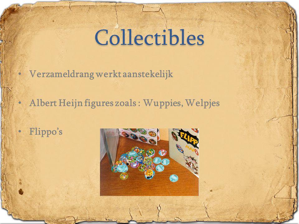 Collectibles Verzameldrang werkt aanstekelijk Albert Heijn figures zoals : Wuppies, Welpjes Flippo's