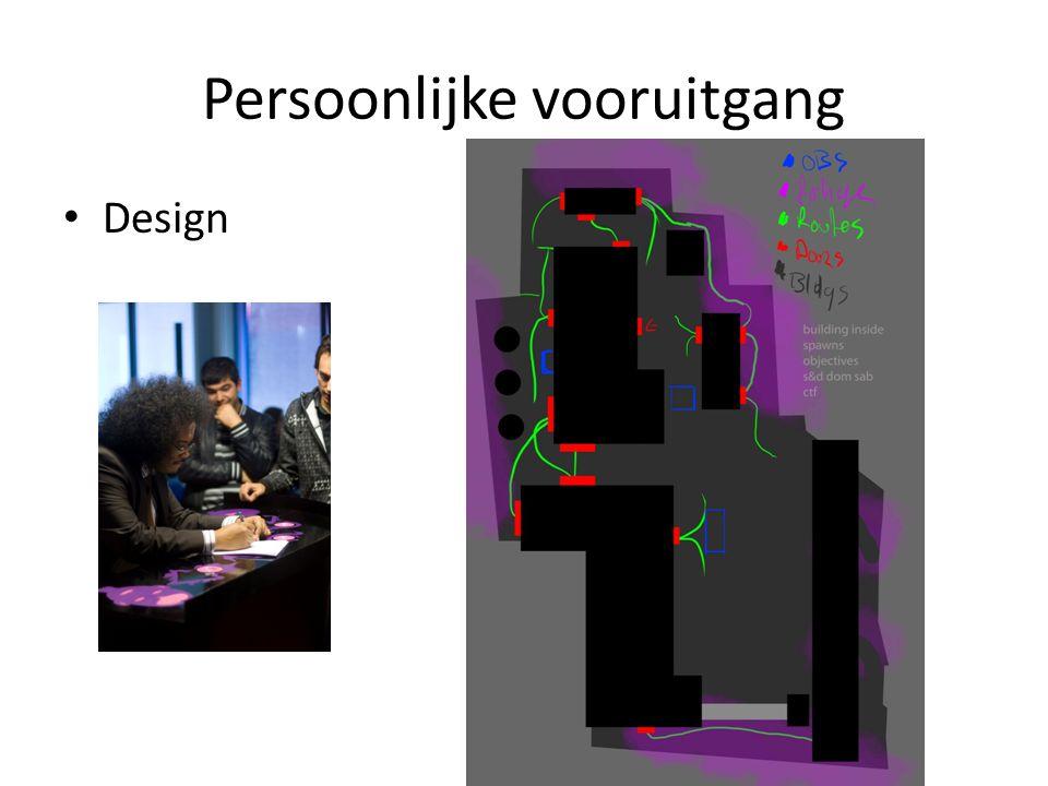Persoonlijke vooruitgang Design