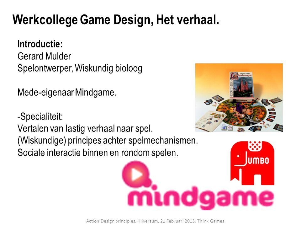 Introductie: Gerard Mulder Spelontwerper, Wiskundig bioloog Mede-eigenaar Mindgame. -Specialiteit: Vertalen van lastig verhaal naar spel. (Wiskundige)