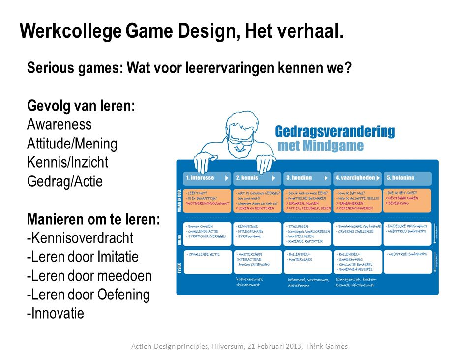 Serious games: Wat voor leerervaringen kennen we.