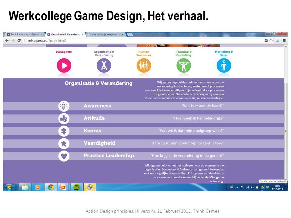 Werkcollege Game Design, Het verhaal.