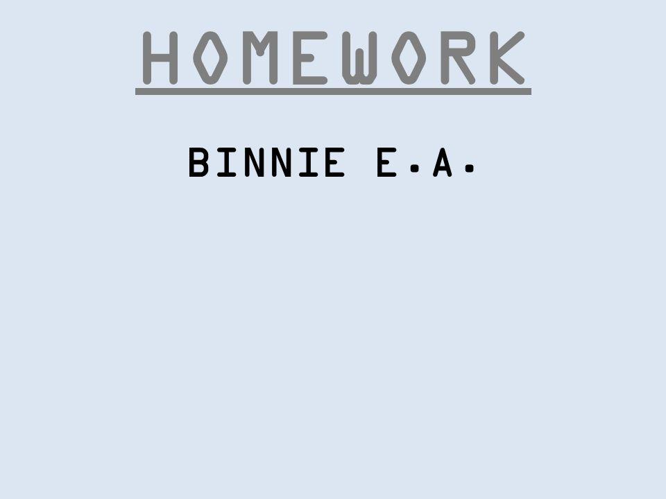 HOMEWORK NEKOMANCER #1 BINNIE E.A. NEKOMANCER #2