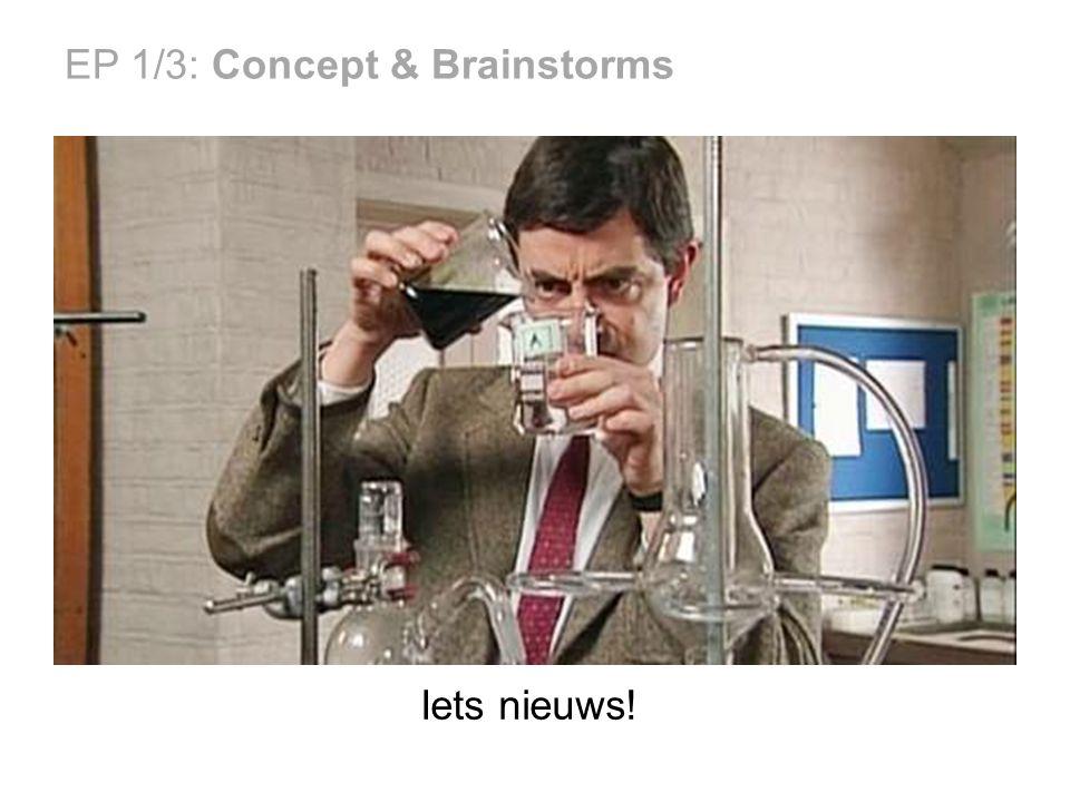 EP 1/3: Concept & Brainstorms Iets nieuws!