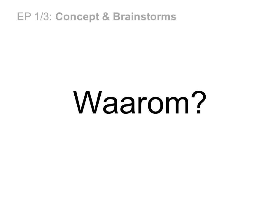EP 1/3: Concept & Brainstorms Waarom