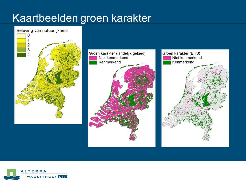 Kaartbeelden groen karakter