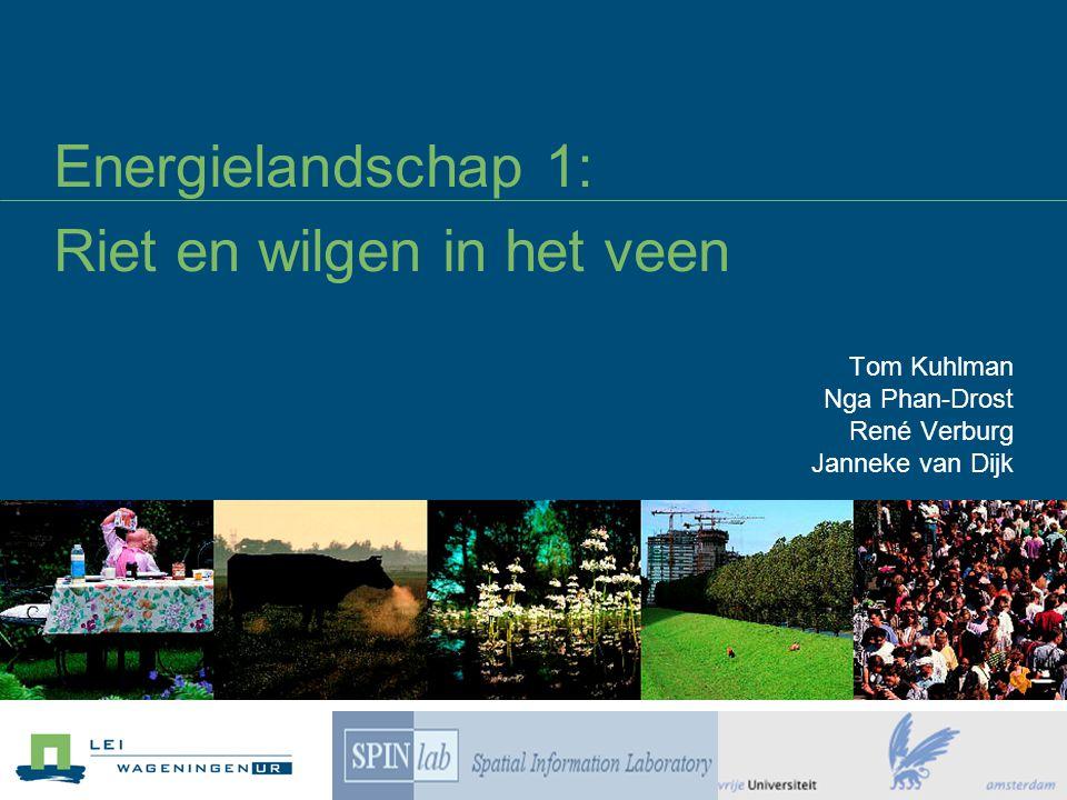 Energielandschap 1: Riet en wilgen in het veen Tom Kuhlman Nga Phan-Drost René Verburg Janneke van Dijk