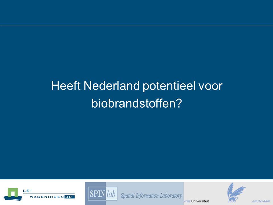 Heeft Nederland potentieel voor biobrandstoffen?