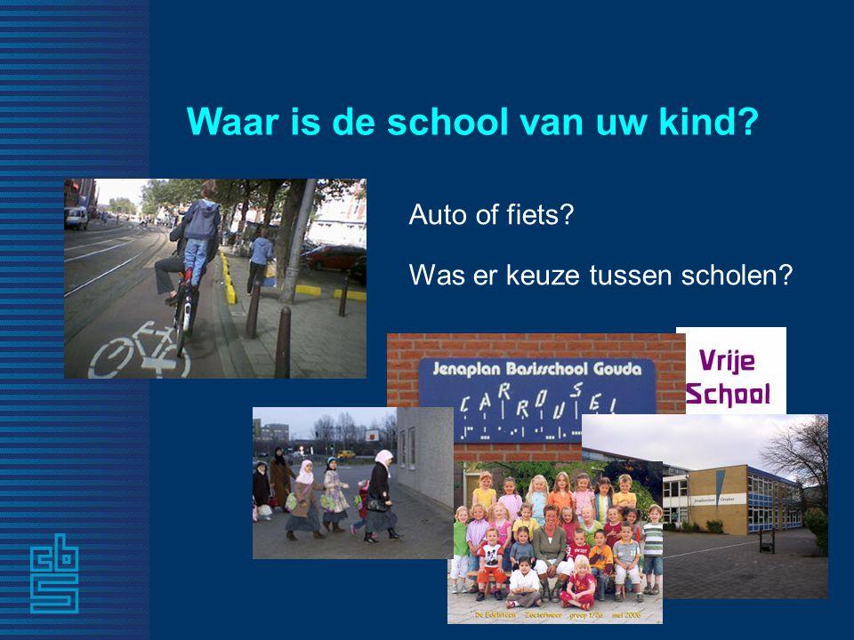 Waar is de school van uw kind? Auto of fiets? Was er keuze tussen scholen?