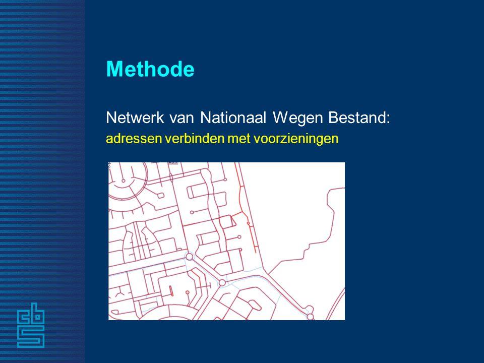 Methode Netwerk van Nationaal Wegen Bestand: adressen verbinden met voorzieningen