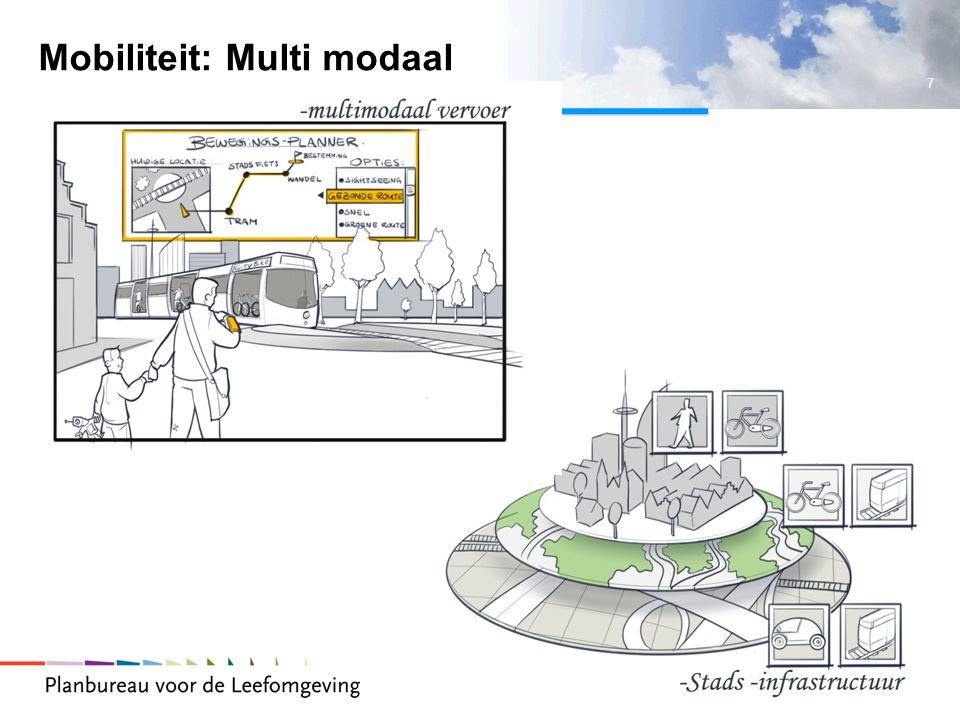7 Ruimteconferentie 3 november 2009 Mobiliteit: Multi modaal