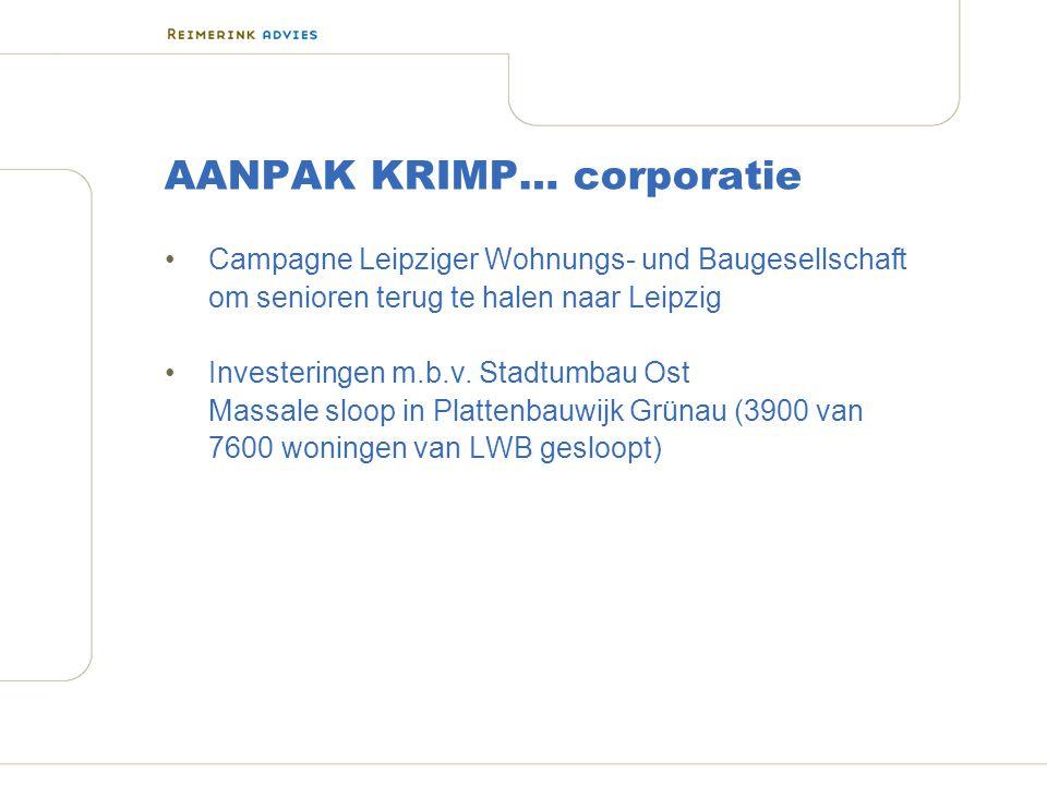 AANPAK KRIMP… corporatie Campagne Leipziger Wohnungs- und Baugesellschaft om senioren terug te halen naar Leipzig Investeringen m.b.v.