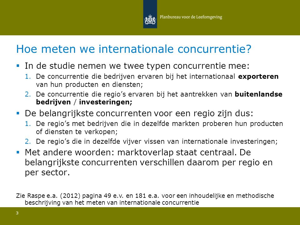 Hoe meten we internationale concurrentie.