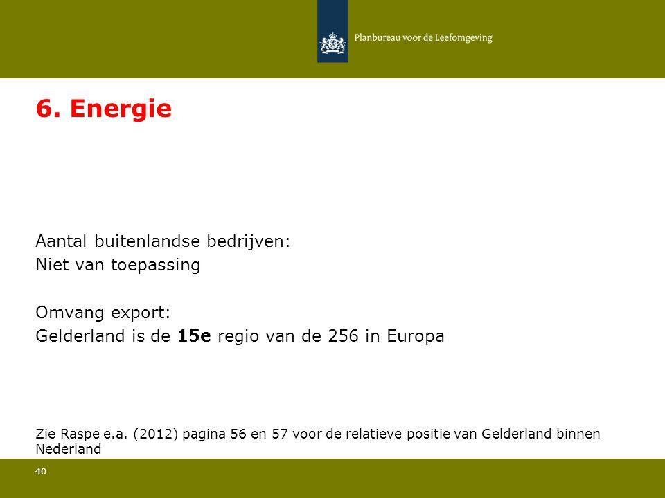 Aantal buitenlandse bedrijven: Niet van toepassing 40 6.