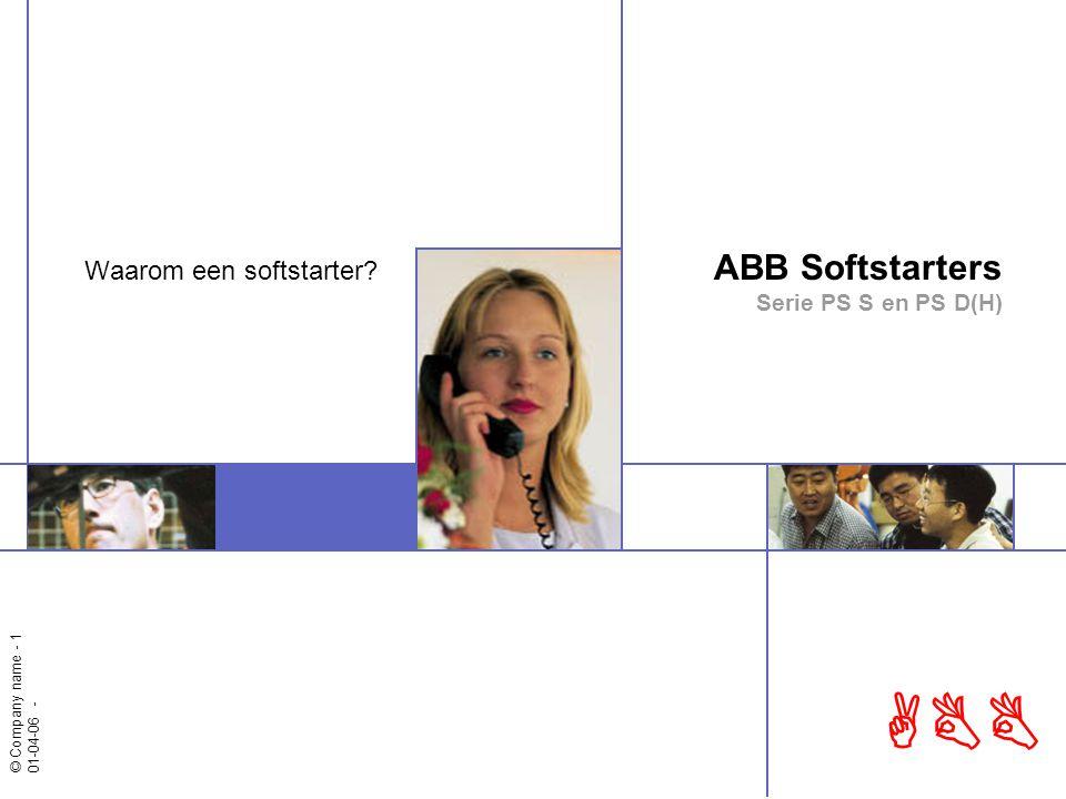 © Automation Technology Products Divisie Systeemcomponenten - 2 ABB Waarom een softstarter Start van kooiankermotoren Werking van een softstarter Waarom een softstarter Applicaties Programma overzicht