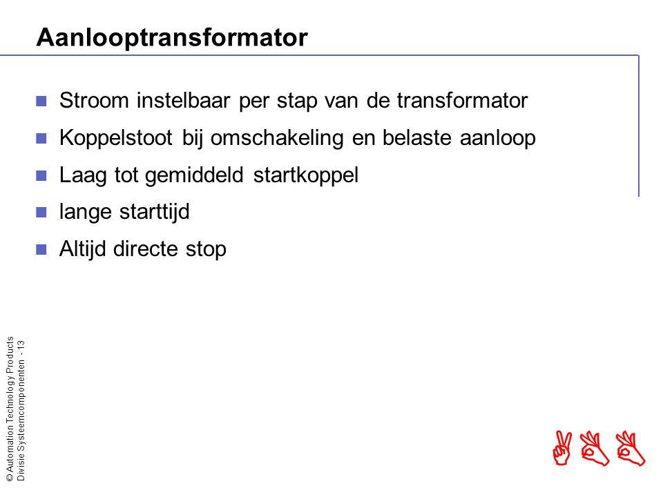 © Automation Technology Products Divisie Systeemcomponenten - 14 ABB Softstarter In lijn In driehoek