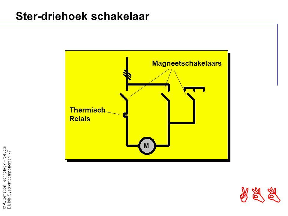 © Automation Technology Products Divisie Systeemcomponenten - 8 ABB Ster-driehoek schakelaar Hoge omschakelstroom Te laag startkoppel Koppelstoot bij omschakeling Te laag startkoppel