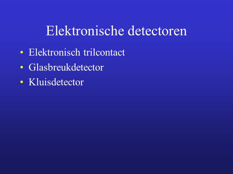 Lijndetectie Detectiesystemen die bestaan uit een zender en ontvanger De ontvanger reageert op onderbreking of sterke vermindering van een signaal/licht dat verstuurd wordt door de zender.