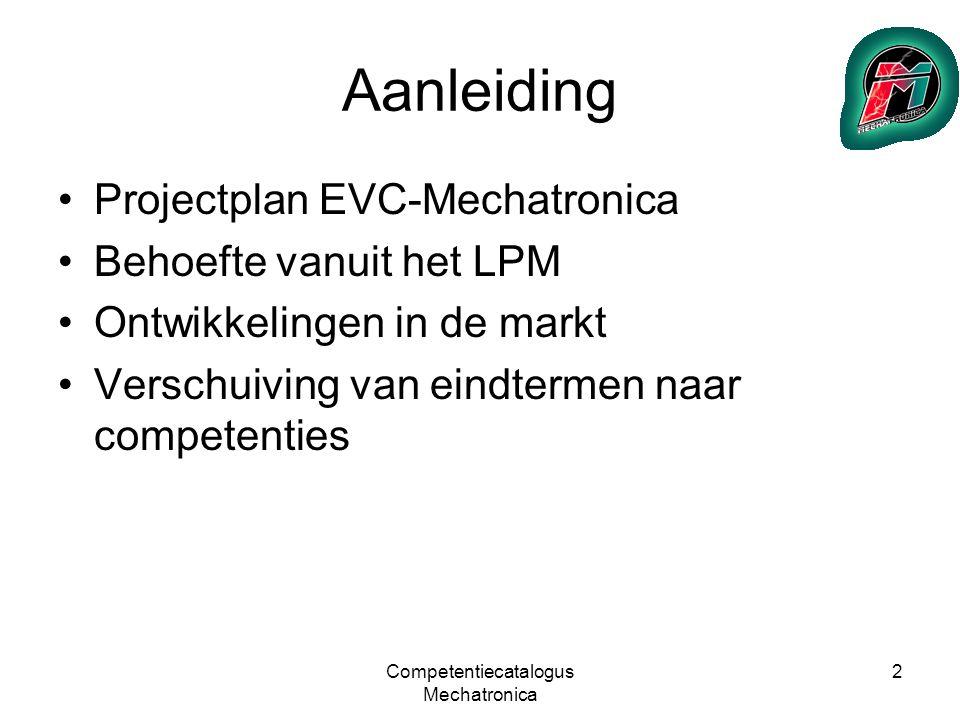 Competentiecatalogus Mechatronica 13 Uitwerking 2
