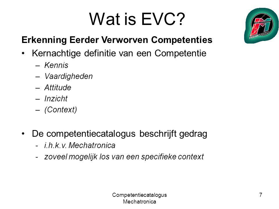 Competentiecatalogus Mechatronica 8 Wat is EVC.