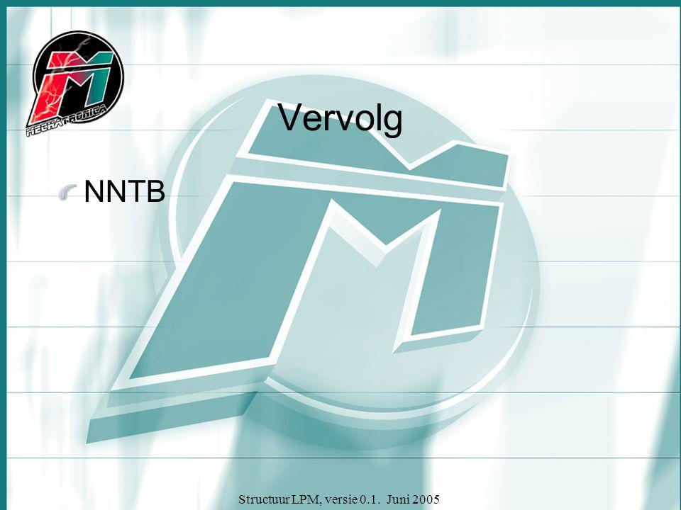 Structuur LPM, versie 0.1. Juni 2005 Vervolg NNTB