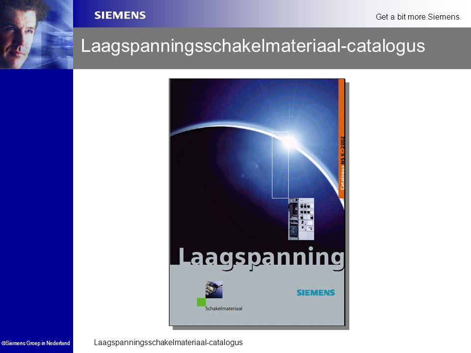 Laagspanningsschakelmateriaal-catalogus  Siemens Groep in Nederland Get a bit more.Siemens. Laagspanningsschakelmateriaal-catalogus