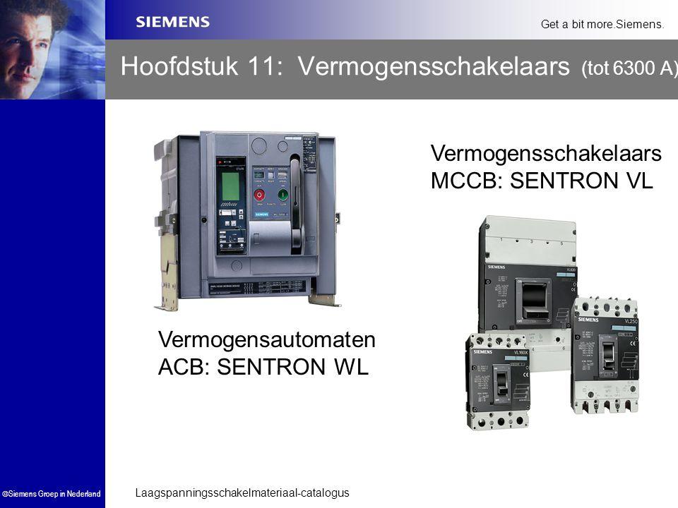 Laagspanningsschakelmateriaal-catalogus  Siemens Groep in Nederland Get a bit more.Siemens. Hoofdstuk 11: Vermogensschakelaars (tot 6300 A) Vermogens