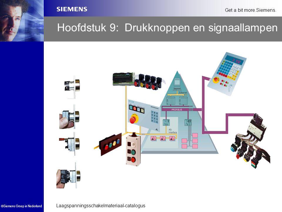 Laagspanningsschakelmateriaal-catalogus  Siemens Groep in Nederland Get a bit more.Siemens. Hoofdstuk 9: Drukknoppen en signaallampen