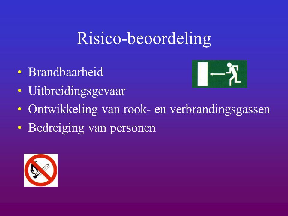Risico-beoordeling Brandbaarheid Uitbreidingsgevaar Ontwikkeling van rook- en verbrandingsgassen Bedreiging van personen