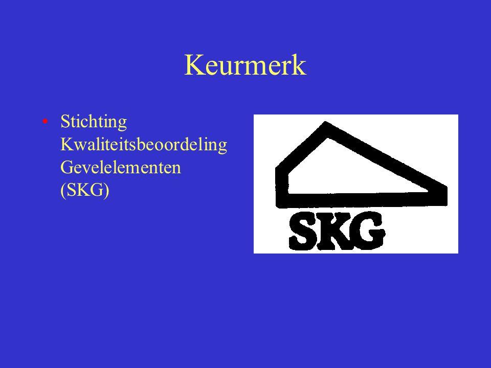 Keurmerk Stichting Kwaliteitsbeoordeling Gevelelementen (SKG)