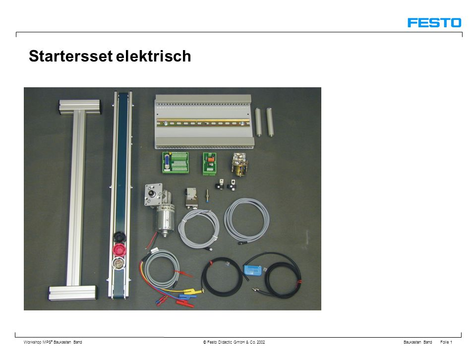 Baukasten Band Folie 1 Workshop MPS ® Baukasten Band © Festo Didactic GmbH & Co.