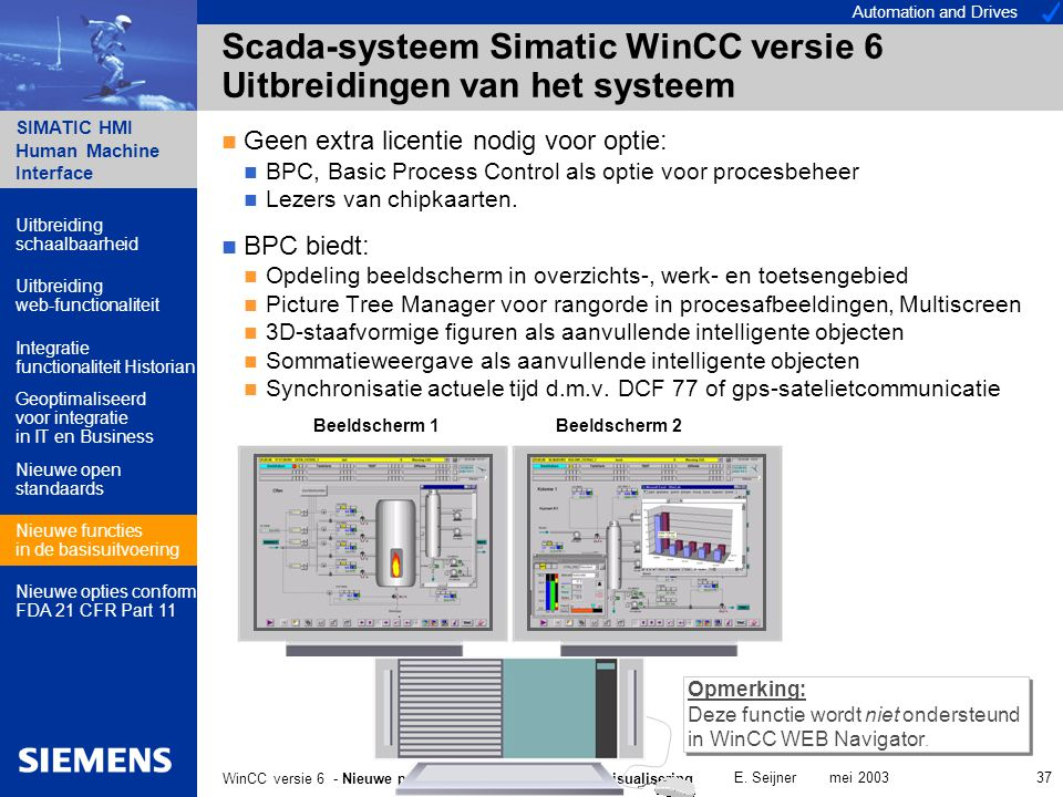 Automation and Drives SIMATIC HMI Human Machine Interface E.
