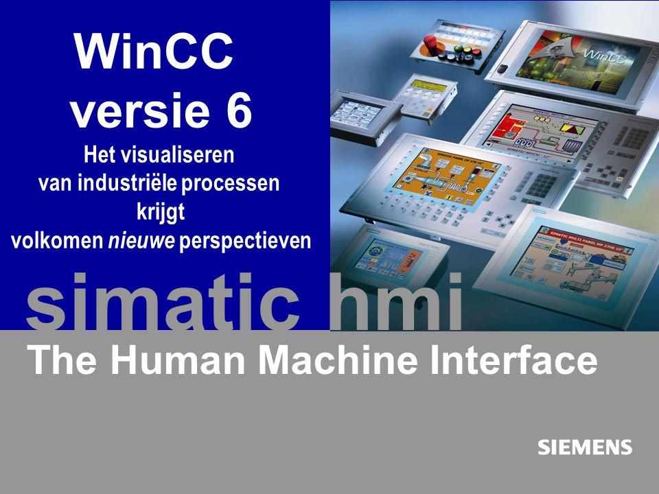 Automation and Drives SIMATIC HMI Human Machine Interface E. Seijner mei 2003 40 WinCC versie 6 - Nieuwe perspectieven voor de procesvisualisering The