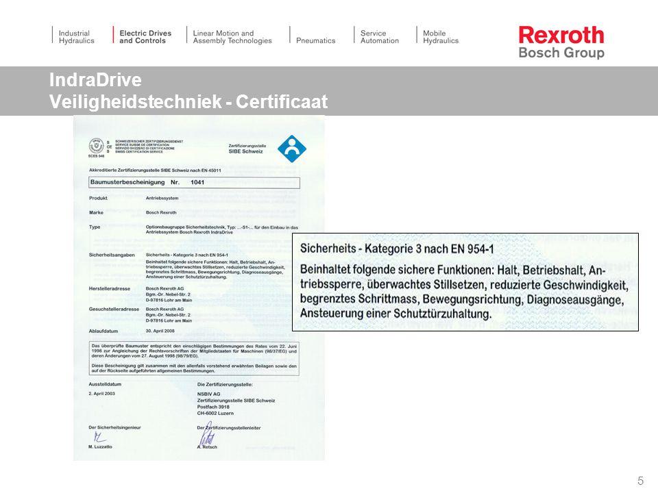 5 IndraDrive Veiligheidstechniek - Certificaat