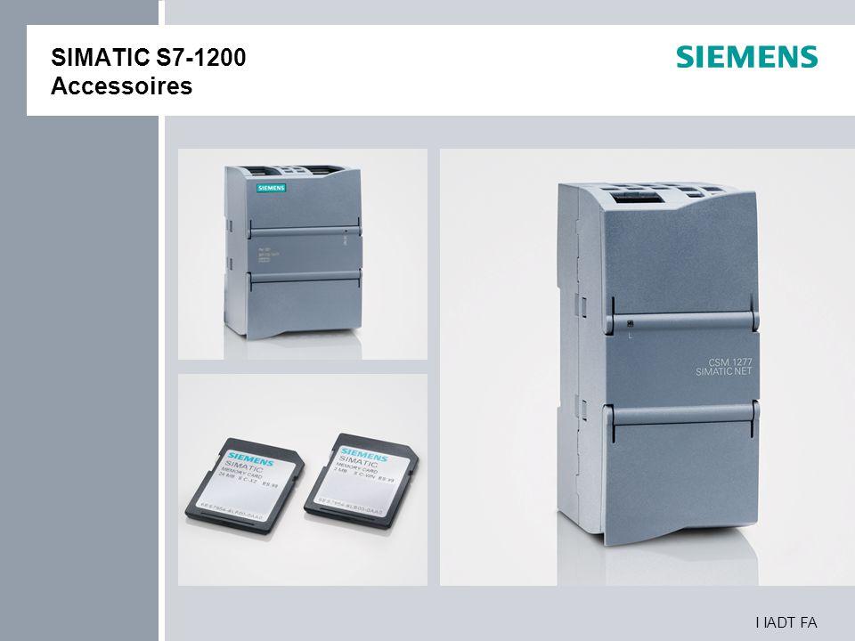 I IADT FA SIMATIC S7-1200 Accessoires