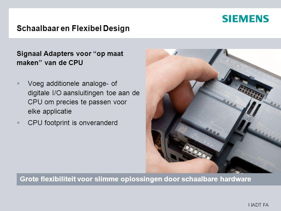 """I IADT FA Schaalbaar en Flexibel Design Signaal Adapters voor """"op maat maken"""" van de CPU  Voeg additionele analoge- of digitale I/O aansluitingen toe"""