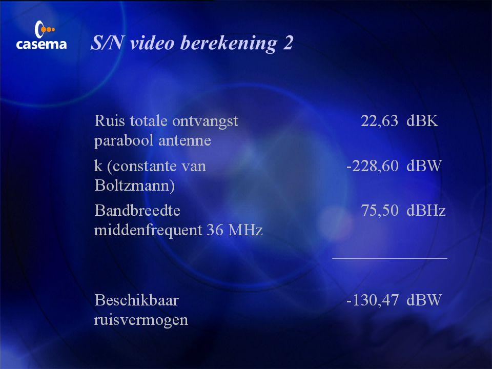S/N video berekening 1