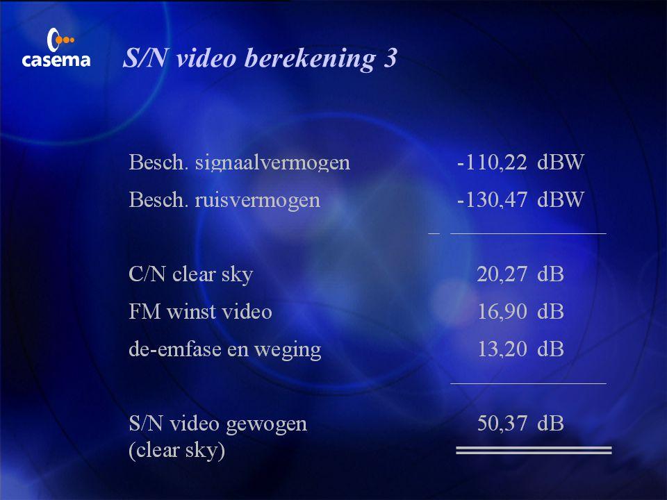 S/N video berekening 2
