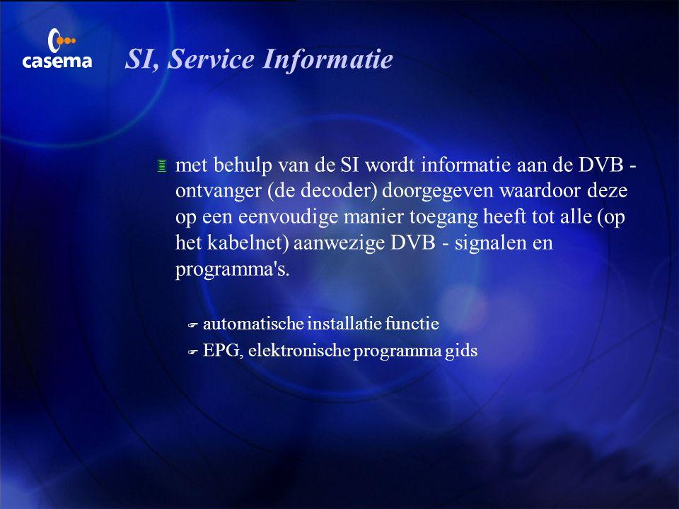 Typische DVB elementen u televisie- en radio programma's worden digitaal in groepen uitgezonden. Zo'n groep heet een multiplex. u elke multiplex kan i