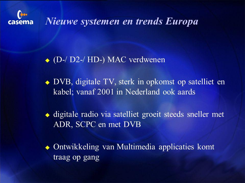 Audiodienst per satelliet (3) u audio in eigen transponder (vervolg) F SARA, Eutelsat Satelliet Radio F MPEG-1 laag 3 met 128kbps, CD stereo F 100 ppr
