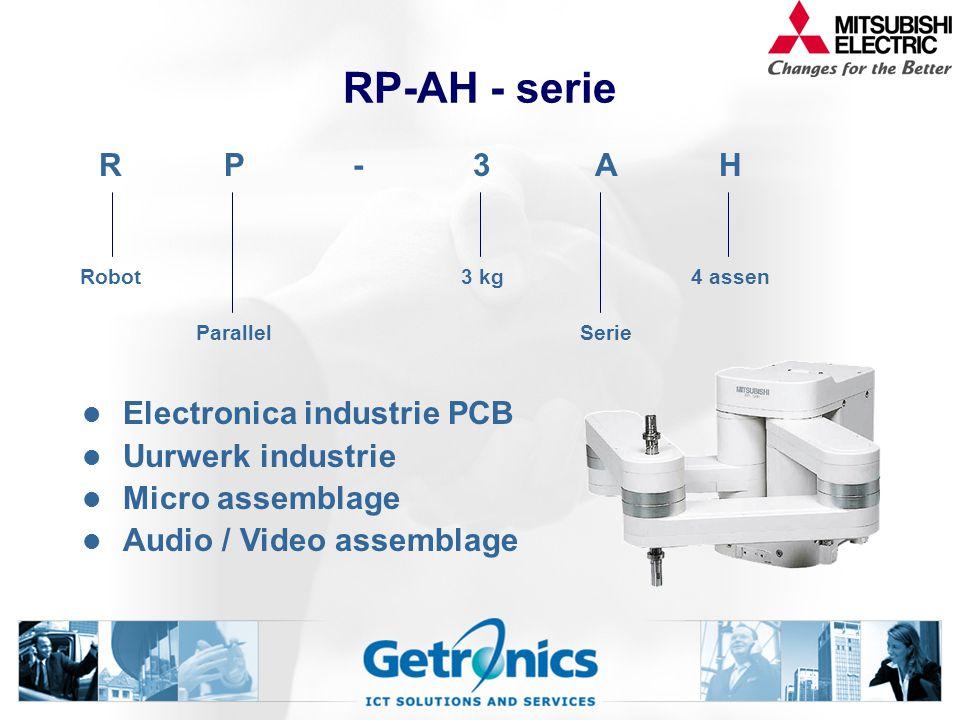 RP-AH - serie Electronica industrie PCB Uurwerk industrie Micro assemblage Audio / Video assemblage RP-3AH Robot3 kg4 assen ParallelSerie